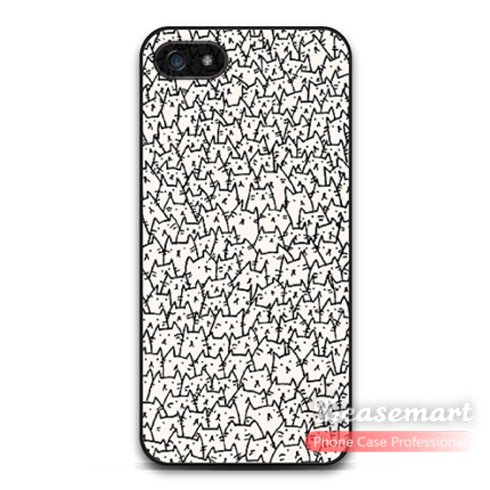 Lovely Many Cats Case For iPhone 5 5s 5c 4 iPod 5 Animal Pattern Print Phone Cases For 6 6 Plus(China (Mainland))