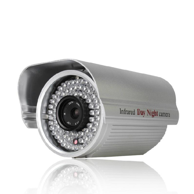 "Effio-es 1/3""CCD color sensor 750TVL 84 Leds CCTV Security Camera metal house outdoor waterproof FC25"