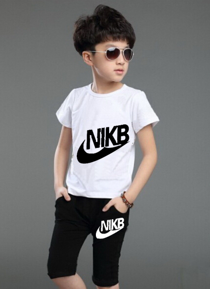 New 2015 summer kids clothing sets kids pants + Top baby boys girls sport suit t shirt pant clothes children tracksuit(China (Mainland))