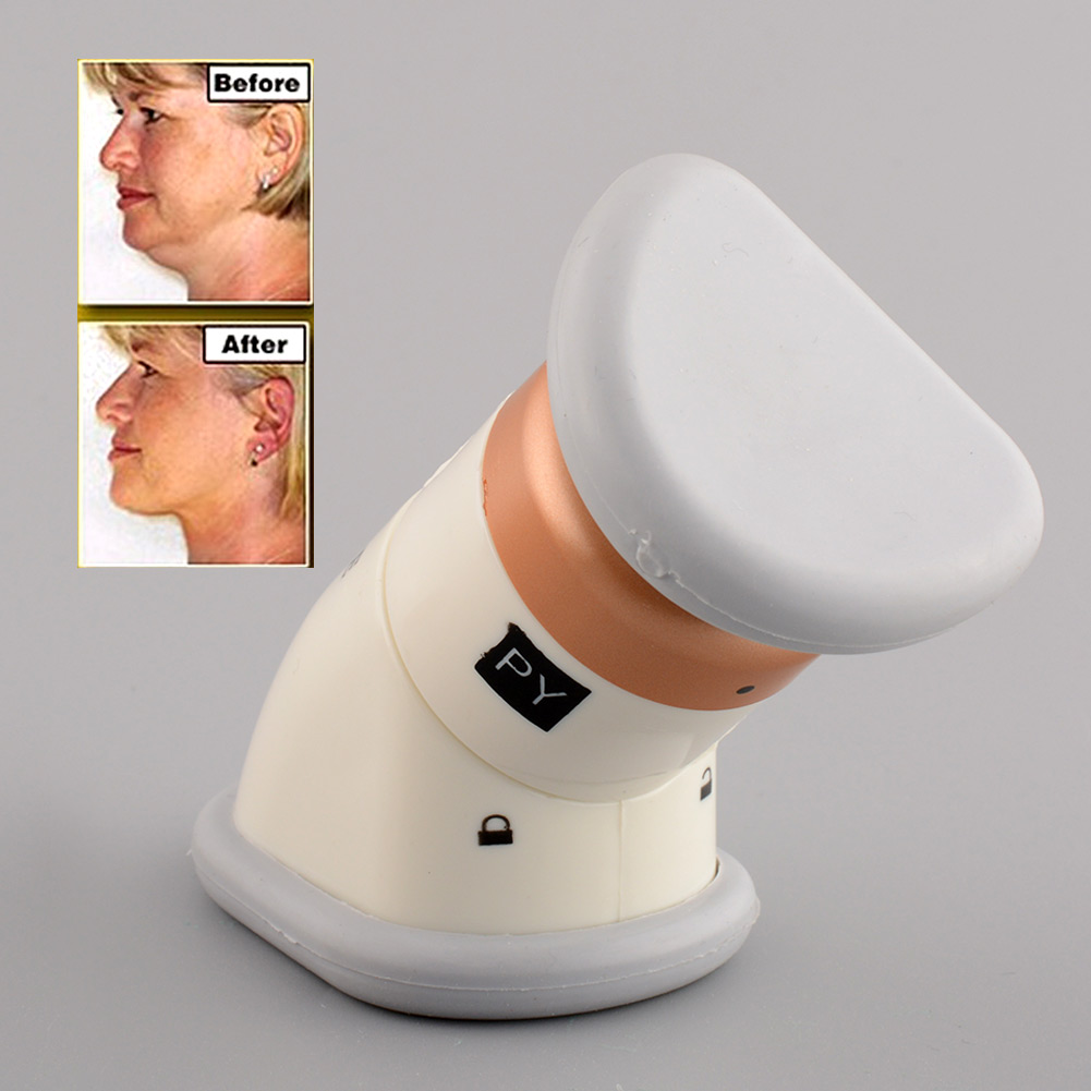 Hot New High Quality Portable Neckline Slimmer Double Thin Reduce Chin Jaw Massage Massager free shipping(China (Mainland))