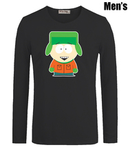 Cute Cartoon South Park Kyle Broflovski Print Men's Boy's T Shirts Casual Long Sleeve Newest High-quality Men T-shirt(China (Mainland))