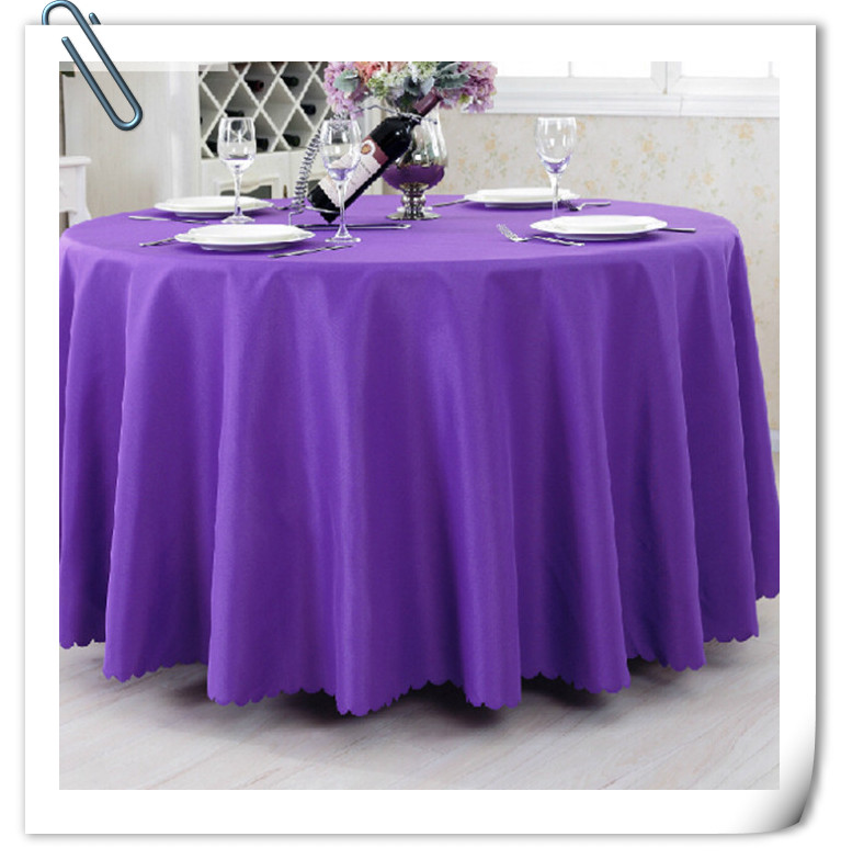best price with best quality !!! 90inch 10pcs Tablecloth Table linen Purple for Banquet Wedding Party Decoration FREE SHIPPING(China (Mainland))