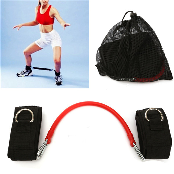 Fashion Training Aids Red Latex Tube Legs Stretched Elastic Rope Tension Device Trainer Fitness Bands Body Building(China (Mainland))