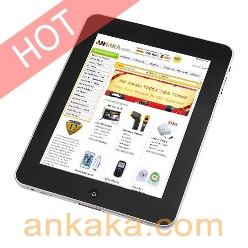 "A8: Android2.2 Tablet PC,MID,Flash10.1, Wifi ,8"" Touch Screen , 1 GHz ARM CPU , 512MB DDR2 RAM, 1080P, Multi-task"