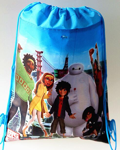 Супер герой корпус шесть мешок школы mochila эсколар печать школьные сумки нетканый материал дети рюкзаки плавание сумка и 88279