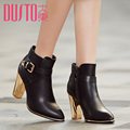 Ankle Winter Boots Women Rubber Genuine Leather SnowBoots Warm