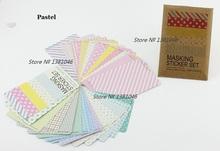 Masking Sticker Set 27 Pieces Multicolour Patterns Pastel Version