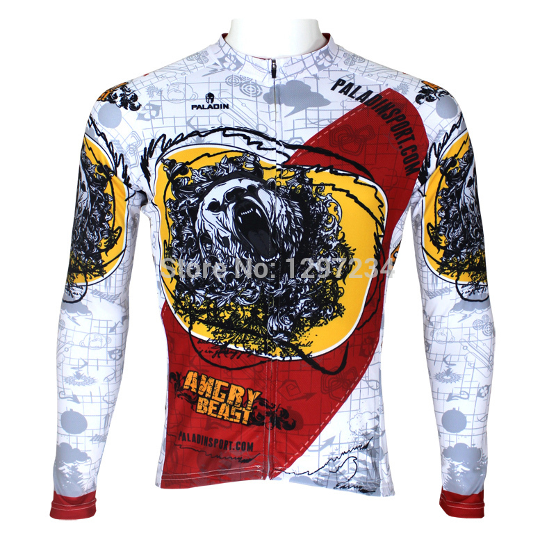 Hot sale 2015 new Bears men's angry Bears unique cycling jersey cool angry Bears riding clothing cheap full sleeve bike wear(China (Mainland))