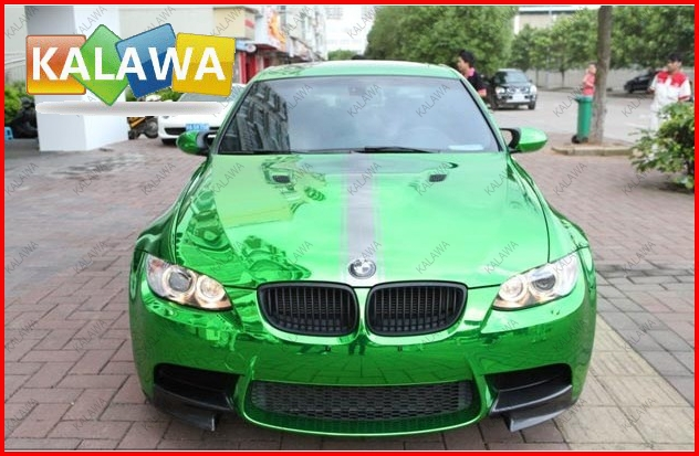 1 Roll 1.52*30M Green chrome vinyl chrome car wrap electroplate vinyl film chrome car sticker with bubble free TTT<br><br>Aliexpress