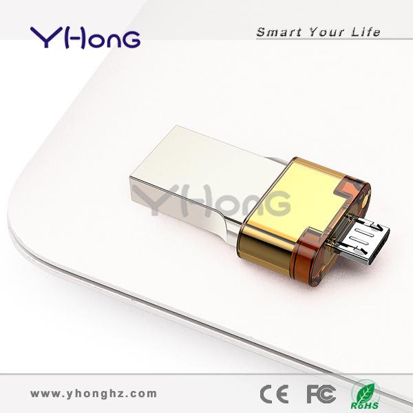 2014 Hot sale! Support Plug and Play USB3.0 OTG USB Flash Drive, with pull-push cap design otg usb3.0 flash drive(China (Mainland))