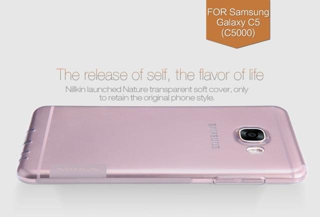 NILLKIN Природа ТПУ для galaxy c5 c 5 защитный case телефон задняя крышка мягкие компактный silicon case for samsung galaxy c5 (c5000) pro