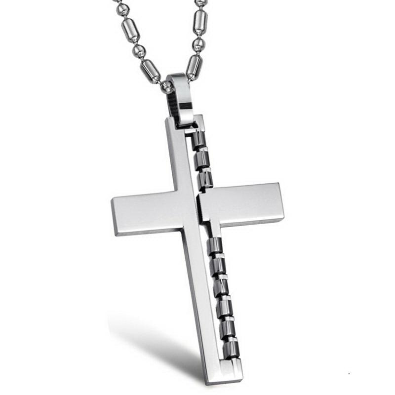 2015 Top Fashion Freeshipping Pendant Necklaces Collar New Jewelry Steel Style Cross Necklace Gx765 - kiki fashion jewelry ( worldwide store)