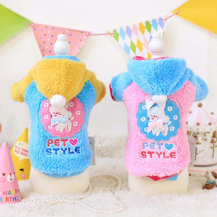 New Pet winter warm small dog coat clothes jacket flannel shirt lovely Print pet dog cat Fleece Costume Jumpsuit jumpers Hoodie(China (Mainland))