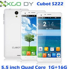 """Original Cubot S222 5.5"""" Android Quad Core Mobile Cell phone 13MP 1G RAM 16G ROM Smartphone Black White(China (Mainland))"""