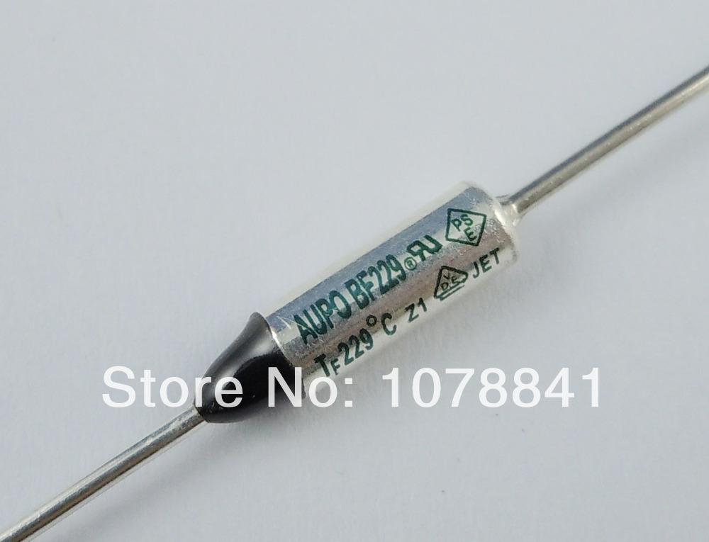100 Pcs Per Lot AUPO Thermal Fuse Cutoff TF 229 Degree 250V 10A BF229