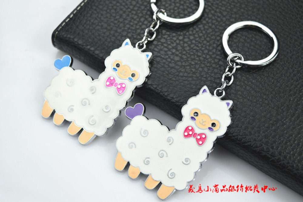 Alpaca kokeshi dolls kawaii charm lanyard keychain cute Mobile phone strap chain cartoon bag for kids(China (Mainland))