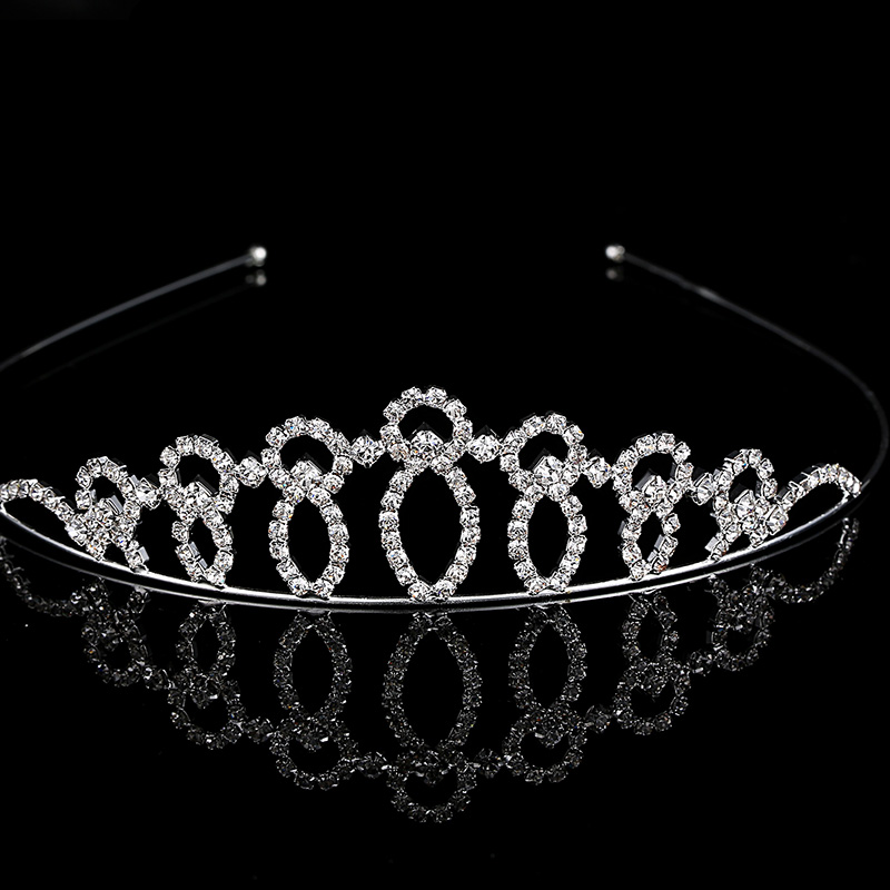 Hot Fashion Cubic Zirconia Crown Hairband Crystal Bridal Tiara Wedding Accessory Women Party Pageant Flower Jewelry(China (Mainland))