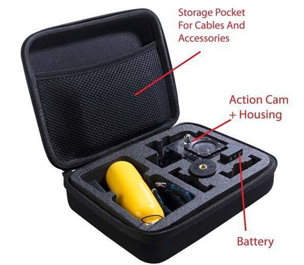 Medium Travel Carry Case Bag for Go Pro GoPro Hero 1 2 3 3+ Camera, SJ4000<br><br>Aliexpress
