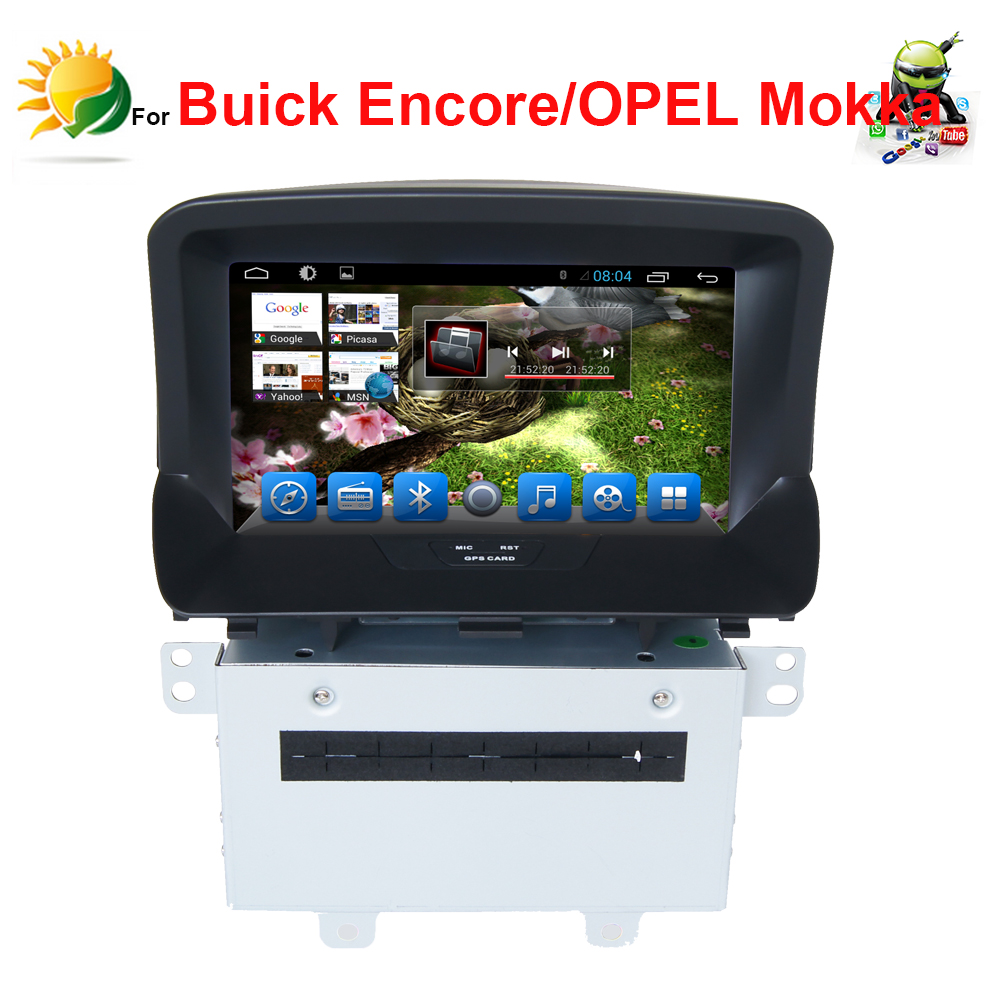 Android 4.4 headrest car dvd player for Buick encore Opel mokka dvd automotivo MP3 Player withGPS Navigation 2 din car autoradio(China (Mainland))