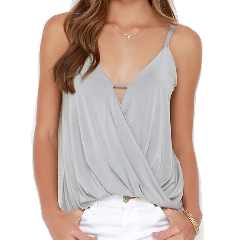 Plus Size S~2XL Crop Top Fashion Summer Tank Tops For Women Solid Vest New Style Woman Streetwear Sexy Gray Strapless Camisole(China (Mainland))