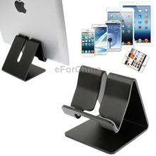 Universal Aluminum Smartphone Stand for New iPad 3/iPad 4/2/iPhone 5/4/samsung Galaxy All Tablet PC Other Mobile Phones(Black)