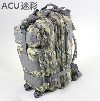 Outdoor mountaineering bag tactical Camouflage 3p submachine acu nylon soft bag backpack travel bag hiking attack packets(China (Mainland))