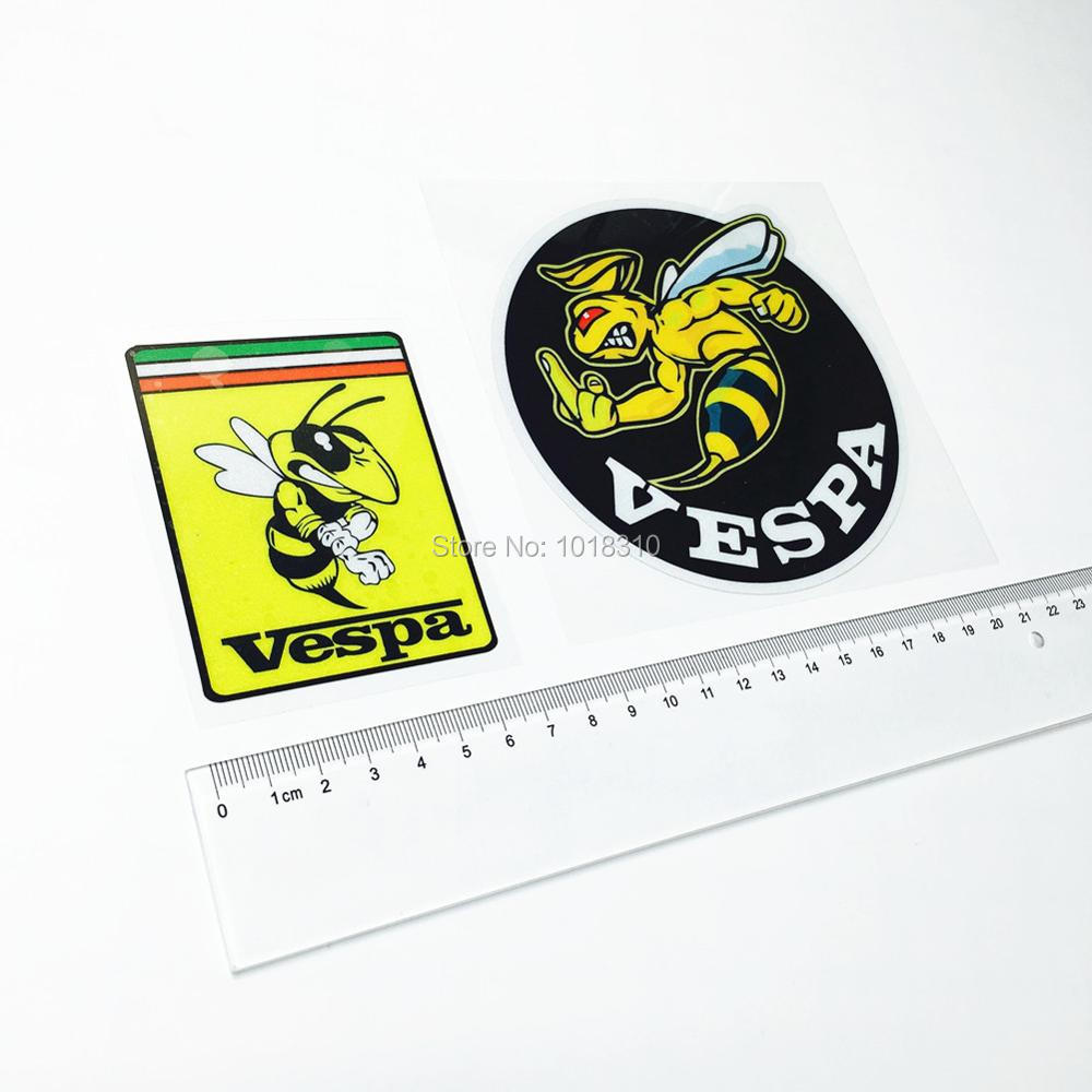 2pcs/lot MotoGP Racing Car Styling Scuba Dive Car Sticker Decals for Vespa Bee Car Whole Body Window Tail Reflective(China (Mainland))