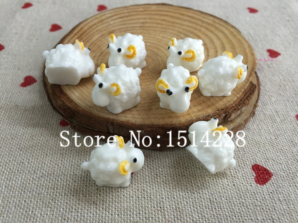 Free shipping! Resin 3D kawaii sheep. Resin solid micro landscape product for home decoration .resin crafts.(China (Mainland))