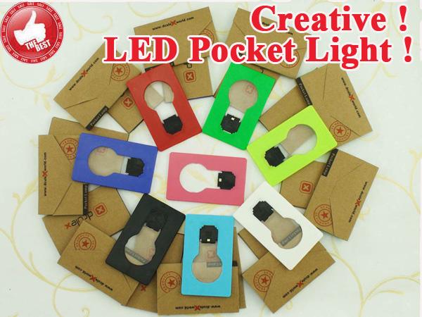 Mini Xdculex creditcard light Cerative portable led card pocket night bulb lamp switch card wedding Party Decoration NoveltyB018(China (Mainland))