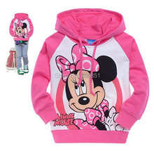 Baby Long Sleeve Shirt Cotton Cartoon Clothing Girl's Top T-shirts Hooded Sweater Kids Hoodie(China (Mainland))