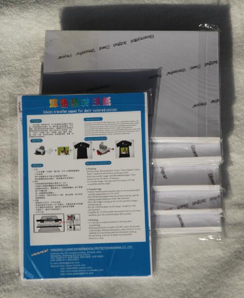 100 pieces Dark Fabric Transfer Paper for Black or Dark Textiles(China (Mainland))
