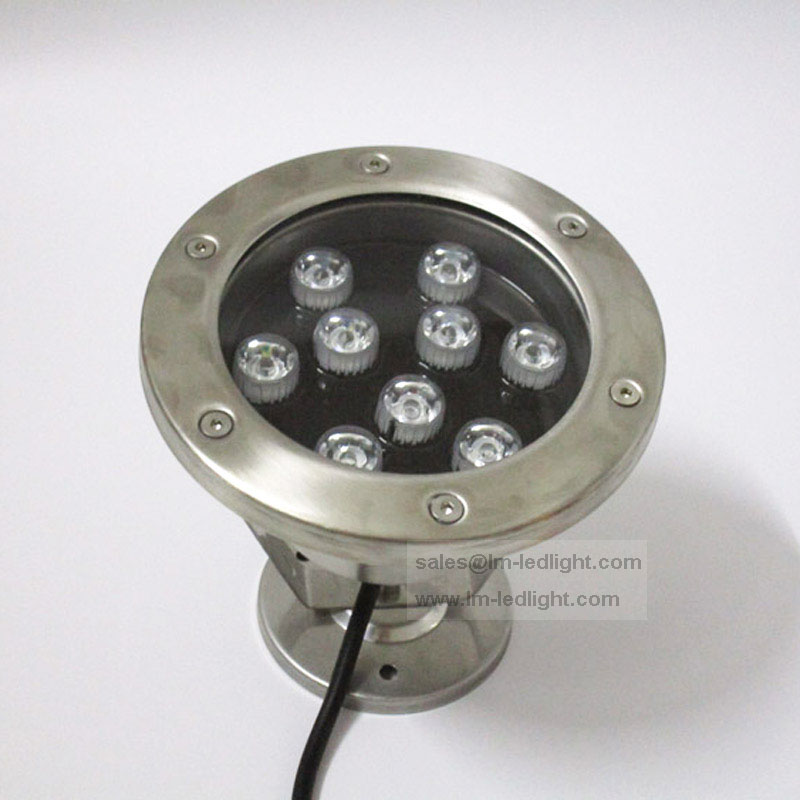 12V 9W IP68 waterproof led underwater light dia145mm warm/nature/cold white rgb blue yellow red stainless steel pool light(China (Mainland))