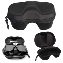 Black Diving Glasses Mask Box Case Storage Carrying Bag for Xiaomi yi For Gopro Hero 1 2 3 3+ 4 Sport Action Camera Diving Mask(China (Mainland))