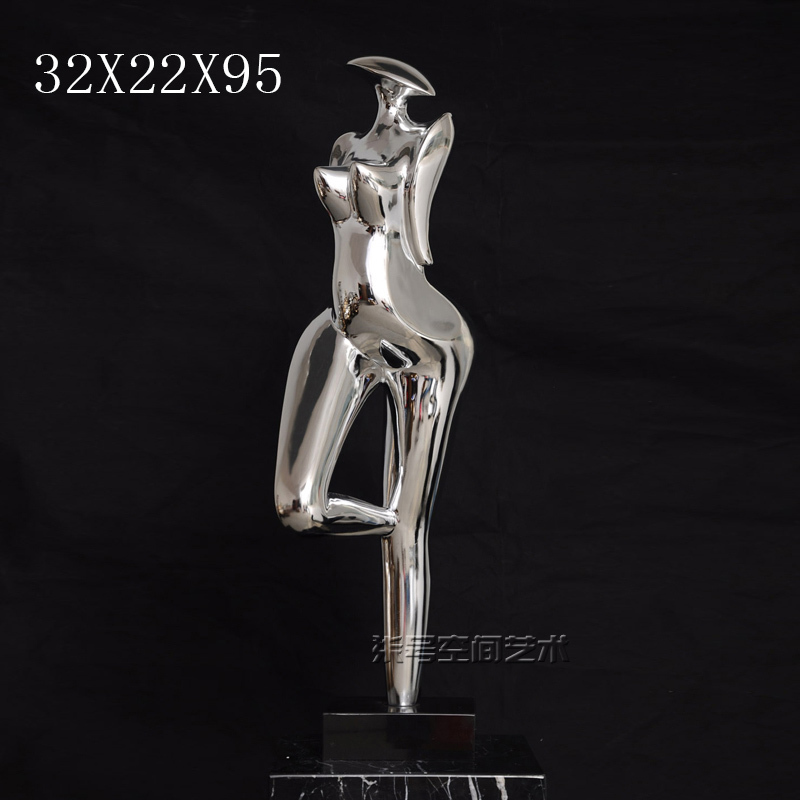 Plating resin abstract sculpture art modern minimalist living room home decoration crafts ornaments decorations figures