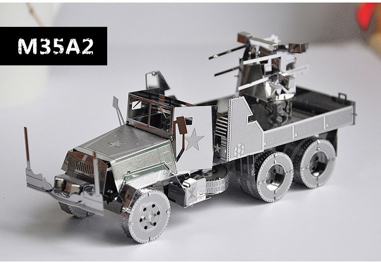 American Dodge M35A2 Truck Three-dimensional metal Jigsaw Puzzle assembly model military tanks armored creative birthday gift(China (Mainland))