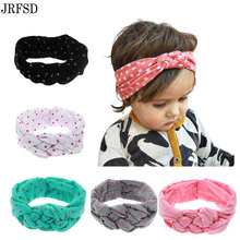 Buy JRFSD 2017 New Cute Headwear Printing Knot Headband Ribbon Elasticity kids Hair Accessories Hair bands KT0 for $1.41 in AliExpress store