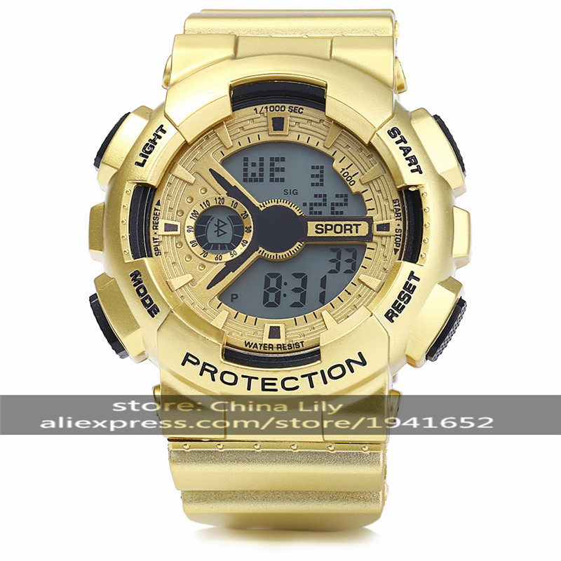 2016 30m Waterproo Multifunctional Male LED Sports Watch Round Digital Sports Watch With Plastic Strap &amp; Alarm Clock  8886G<br><br>Aliexpress