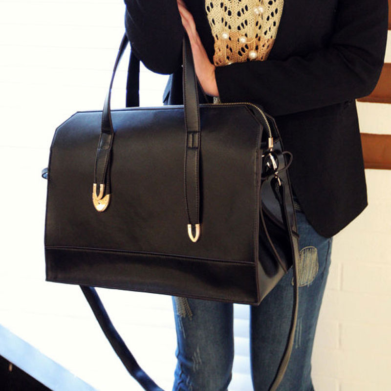 2015 New Hot Women Bags FAST BLACK Women Handbag Shoulder Bags Tote Purse PU Leather Messenger