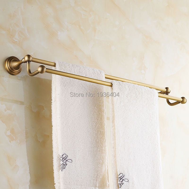 Romantic Towel Bar Antique Brass Bathroom Accessories Towel Racks Wall Mounted Towel Shelf TR1013(China (Mainland))