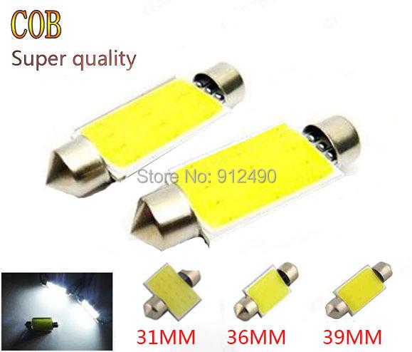 4X 31mm 36mm 39mm C5W 12V 3W Car led festoon light COB 12 chips Auto led LIGHT LAMP bulbs car light source(China (Mainland))