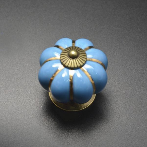 DollarSky Pumpkins Knobs Handles Ceramic Door Handles Cabinets Cupboard Drawer(China (Mainland))