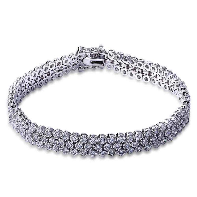 White Gold Bracelets: White Gold Bangle For Women