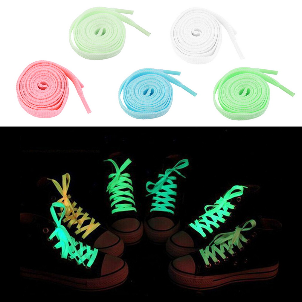 Hot Selling 100cm Luminous Glow In The Dark Fluorescence Shoelace Shoe Lace Polyester Nylon GREEN,PINK,BLUE,WHITE,YELLOW COLOR<br><br>Aliexpress
