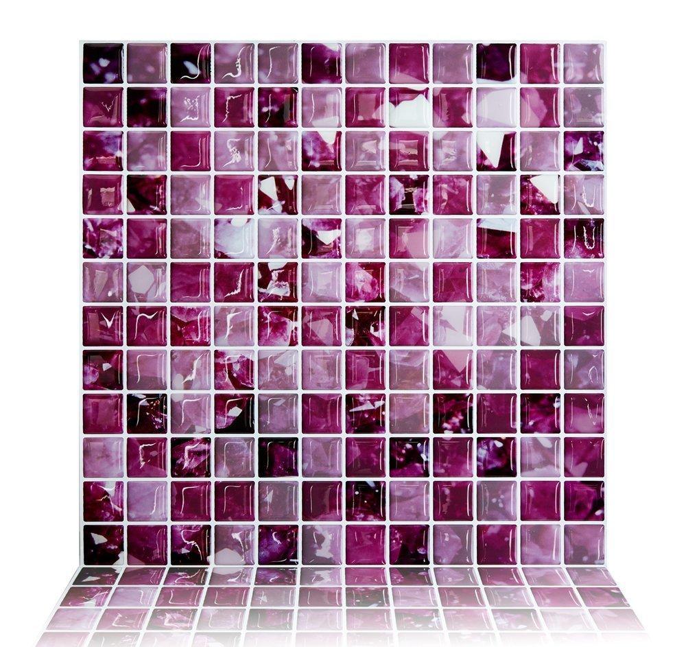 Purple Kitchen Backsplash Online Get Cheap Purple Kitchen Backsplash Aliexpresscom