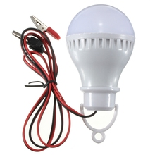 High Quality E27 5W 6000K LED Bulbs Lamp Home Camping Hunting Emergency Outdoor Light For DC 12V(China (Mainland))