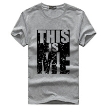 2016 this is me Estate Uomo T Shirt Casual Cotton Tee camicia Uomo Manica Corta Slim Fit T-Shirt Da Uomo O-Collo Tees 50424012A(China (Mainland))