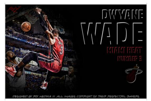 Basketball Star Wade Dunks Cusromized Hot Sale Home Decor Movie Wall Poster Custom Picture PVC (Unframed) Wall Sticker #0306(China (Mainland))