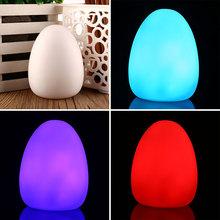 LED Color Changing Colorful Mood Egg Home Room Decor Lamp Baby Kid Night Lights(China (Mainland))