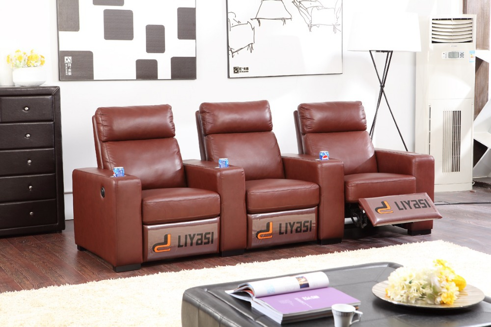 Promotion Wholesale living room Liyasi function sofa 3 seat 3S with 3 receliers(China (Mainland))