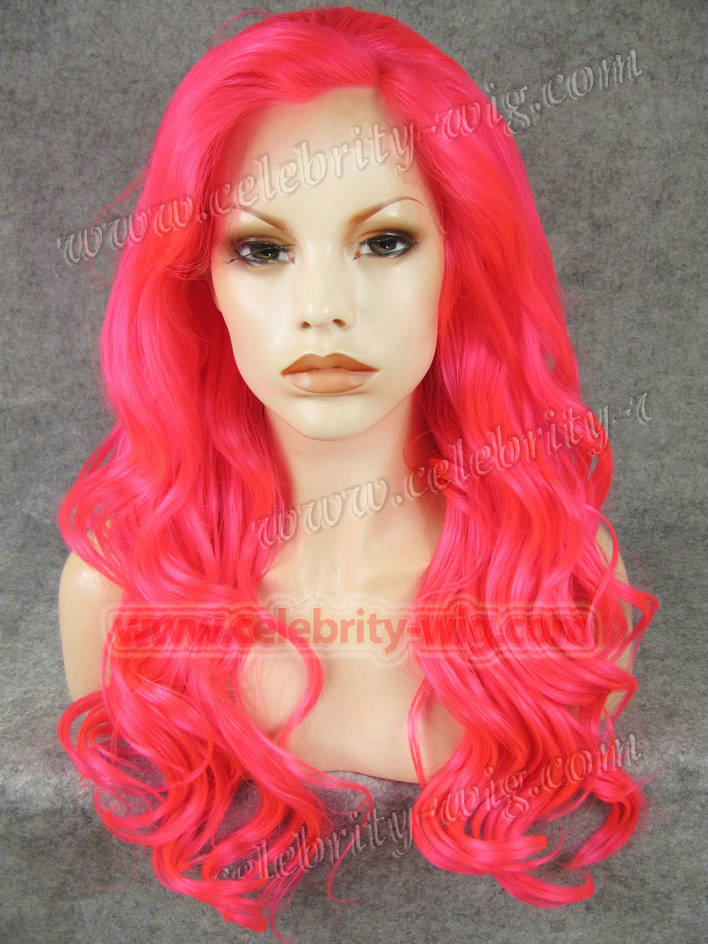 N7-TF2315 Bright Red synthetic lace front wig in stock high quality<br><br>Aliexpress